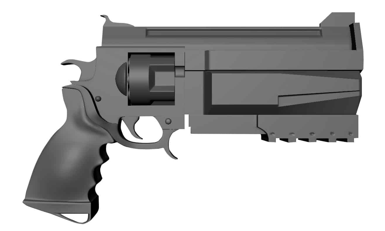 Brink Pistol 3D Model