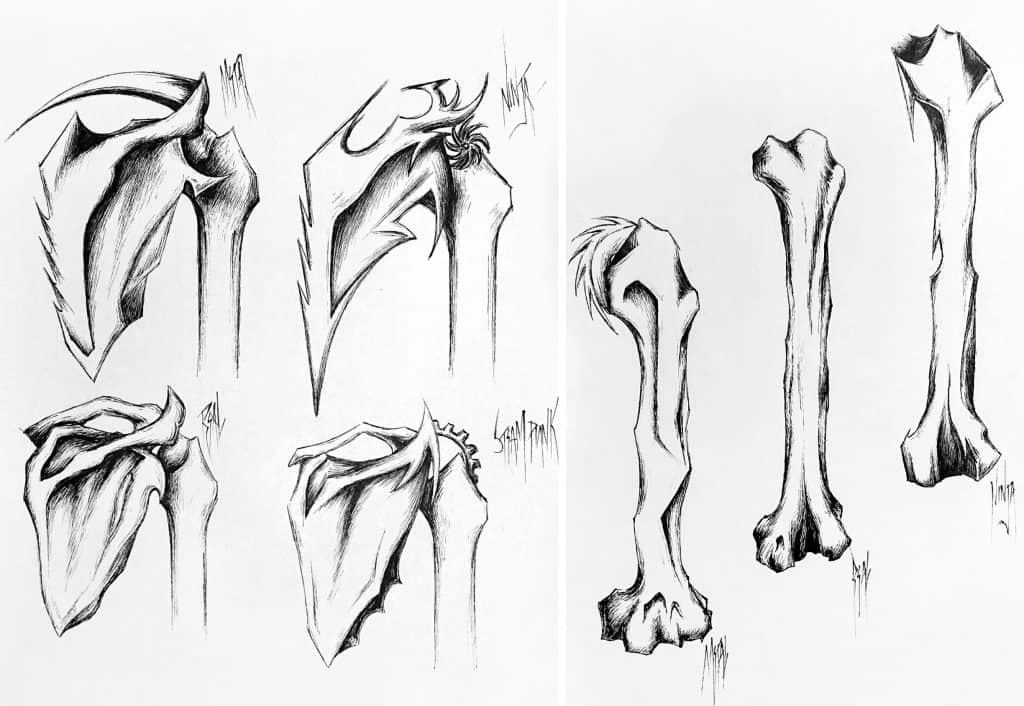 Tattoo Designs - Skeleton Back Piece